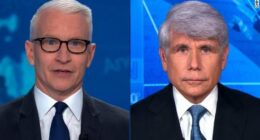 Anderson Cooper, Rod Blagojevich