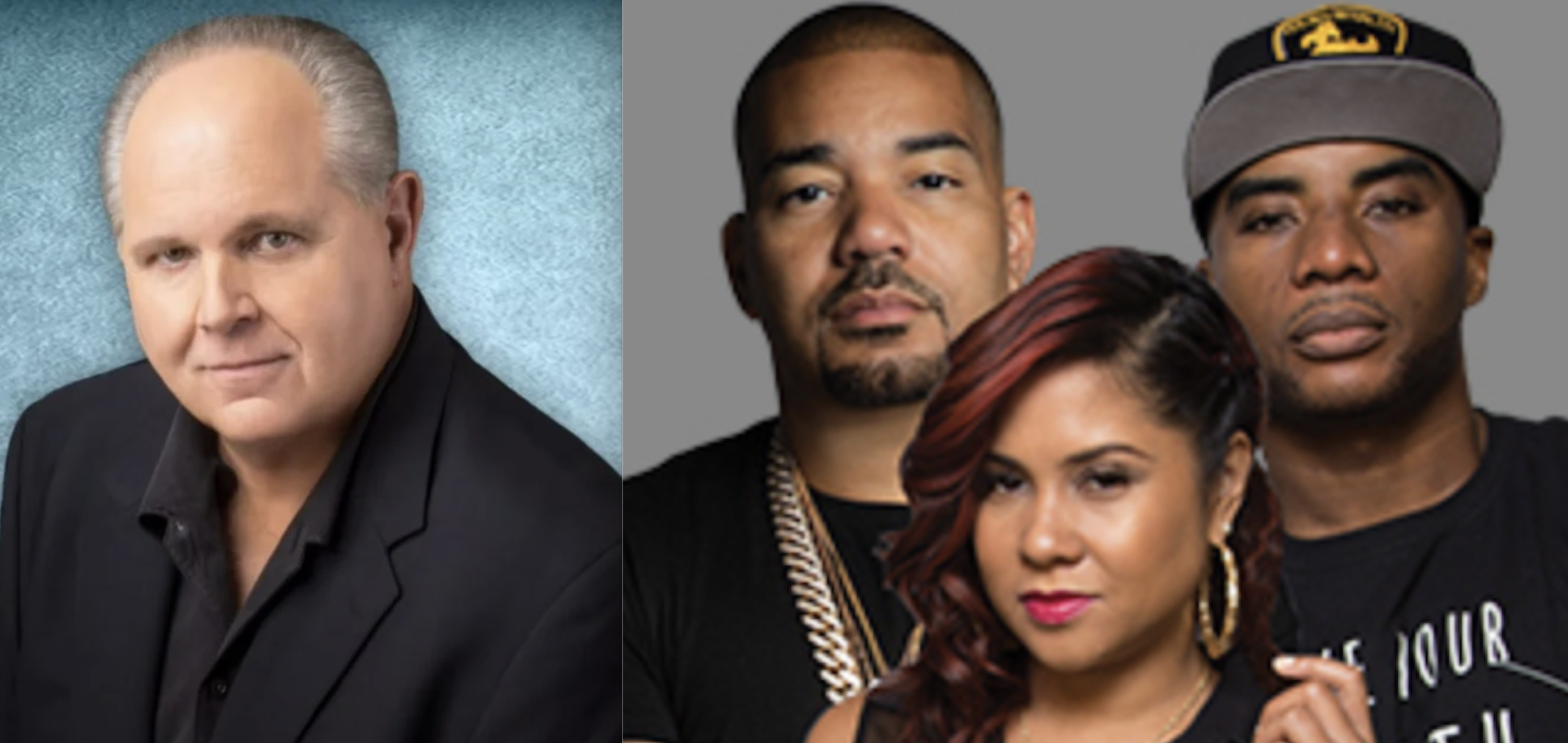 Rush Limbaugh, DJ Envy, Angela Yee, Charlamagne Tha God